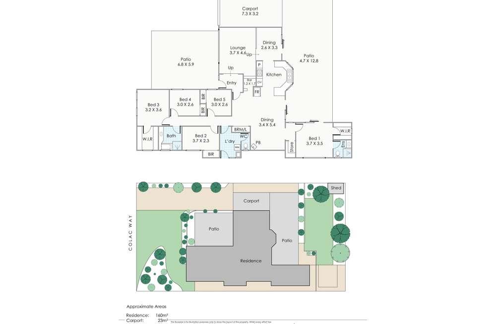 Floorplan of Homely house listing, 23 Colac Way, Duncraig WA 6023
