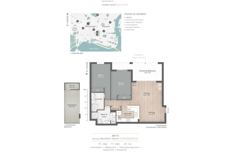 Floorplan of Homely apartment listing, 15/134 Aberdeen Street, Northbridge WA 6003