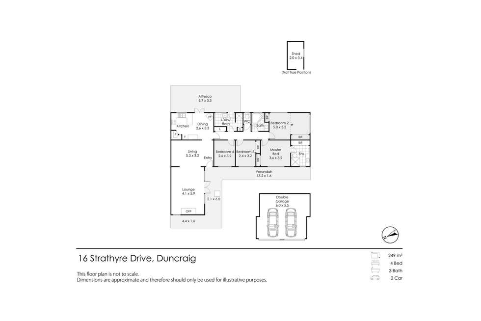 Floorplan of Homely house listing, 16 strathyre Drive, Duncraig WA 6023