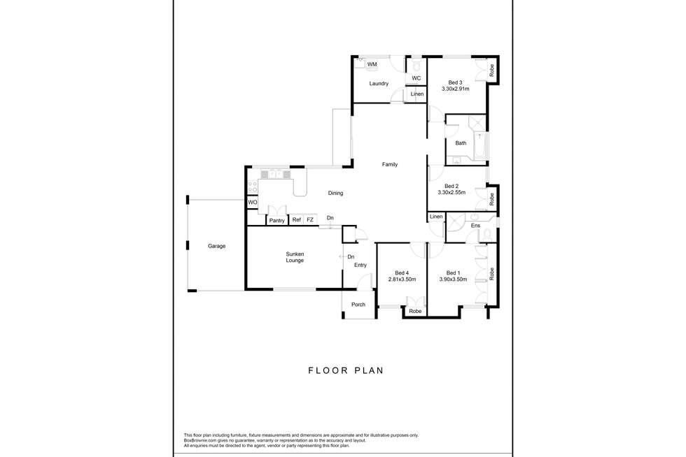 Floorplan of Homely house listing, 32 Bannister Road, Padbury WA 6025