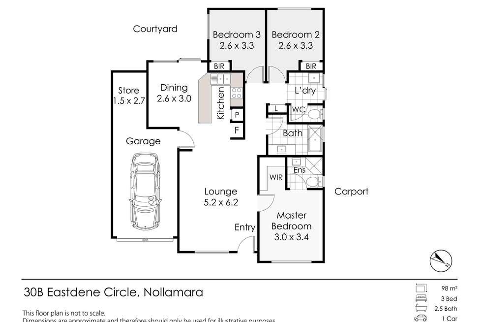 Floorplan of Homely villa listing, 30B Eastdene Circle, Nollamara WA 6061
