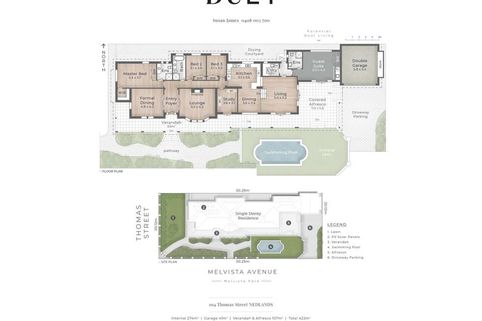 Floorplan of Homely house listing, 104 Thomas Street, Nedlands WA 6009