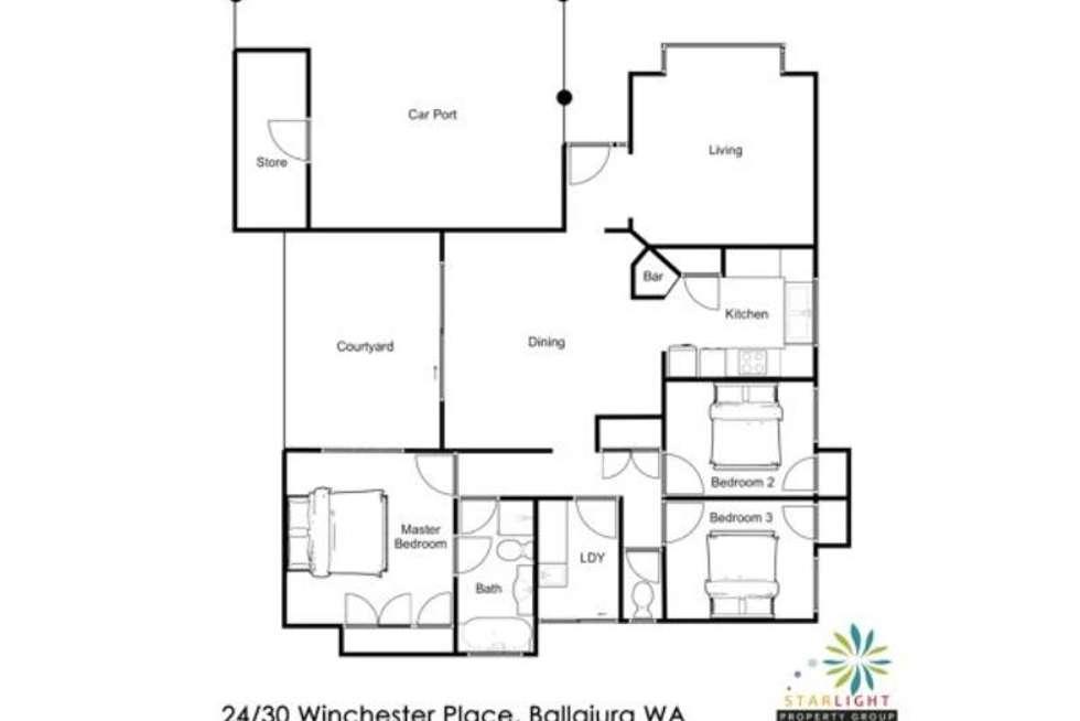 Floorplan of Homely villa listing, 24/30 Winchester Place, Ballajura WA 6066