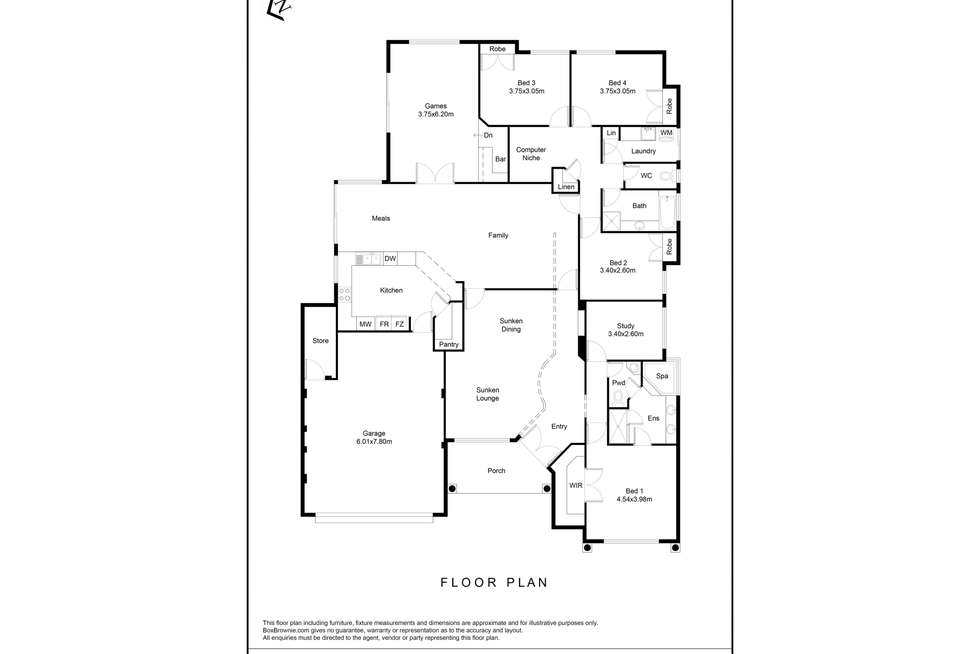 Floorplan of Homely house listing, 66 Pennlake Drive, Spearwood WA 6163