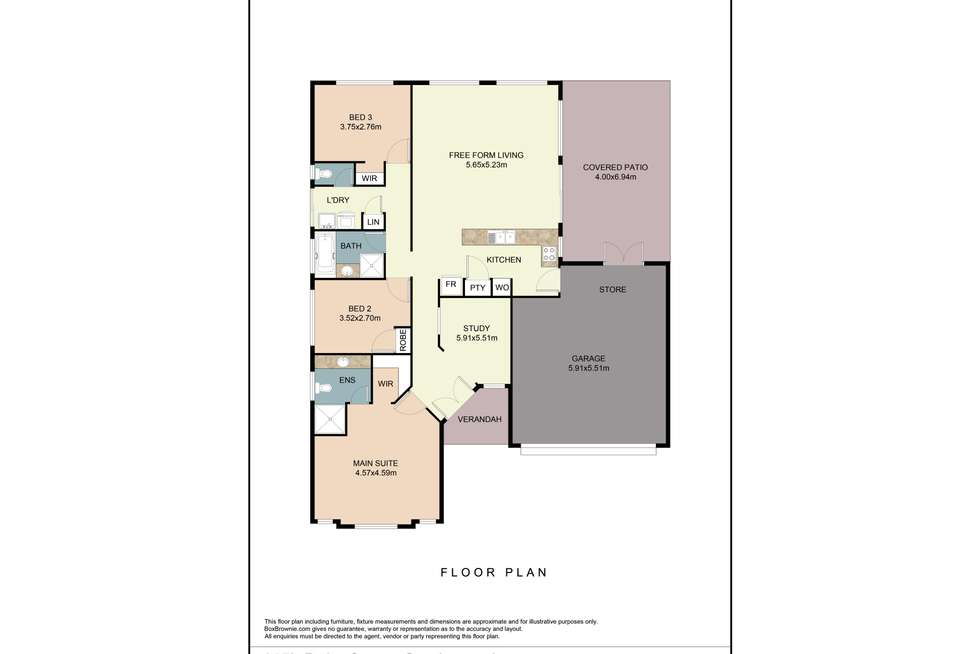 Floorplan of Homely house listing, 115b Duke Street, Scarborough WA 6019