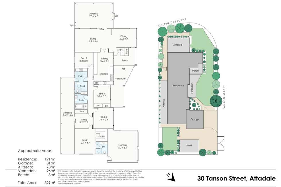 Floorplan of Homely house listing, 30 Tanson Street, Attadale WA 6156
