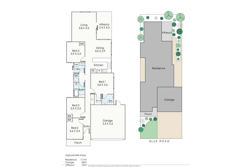 Floorplan of Homely house listing, 30 Blue Road, Canning Vale WA 6155