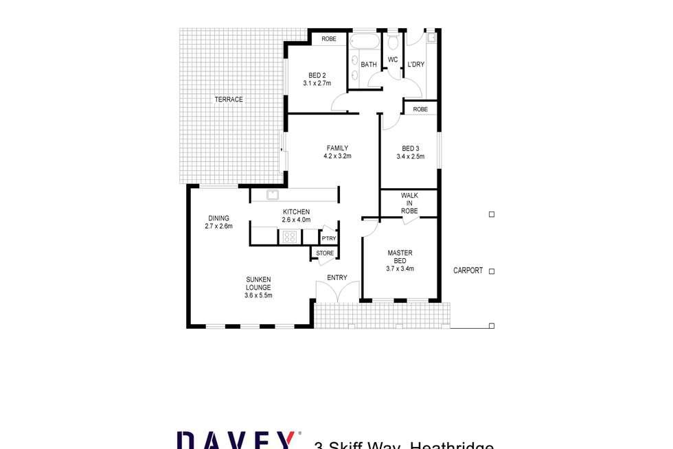 Floorplan of Homely house listing, 3 Skiff Way, Heathridge WA 6027
