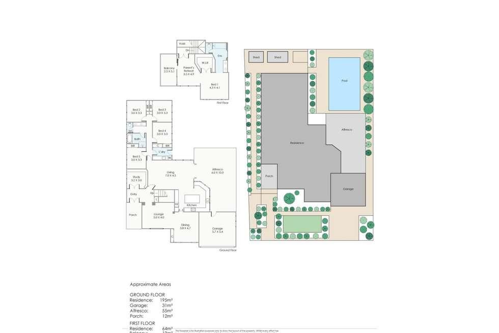Floorplan of Homely house listing, 4 Platt Close, Mosman Park WA 6012