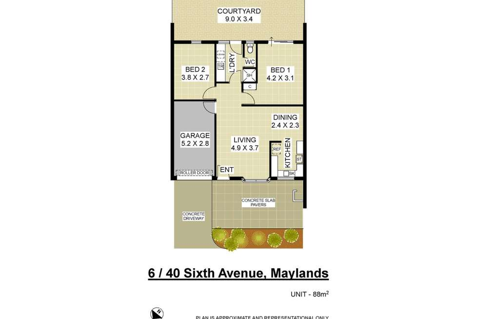 Floorplan of Homely villa listing, 6/40 Sixth Avenue, Maylands WA 6051