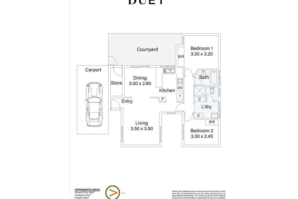 Floorplan of Homely unit listing, 2/108 Salvado Road, Wembley WA 6014
