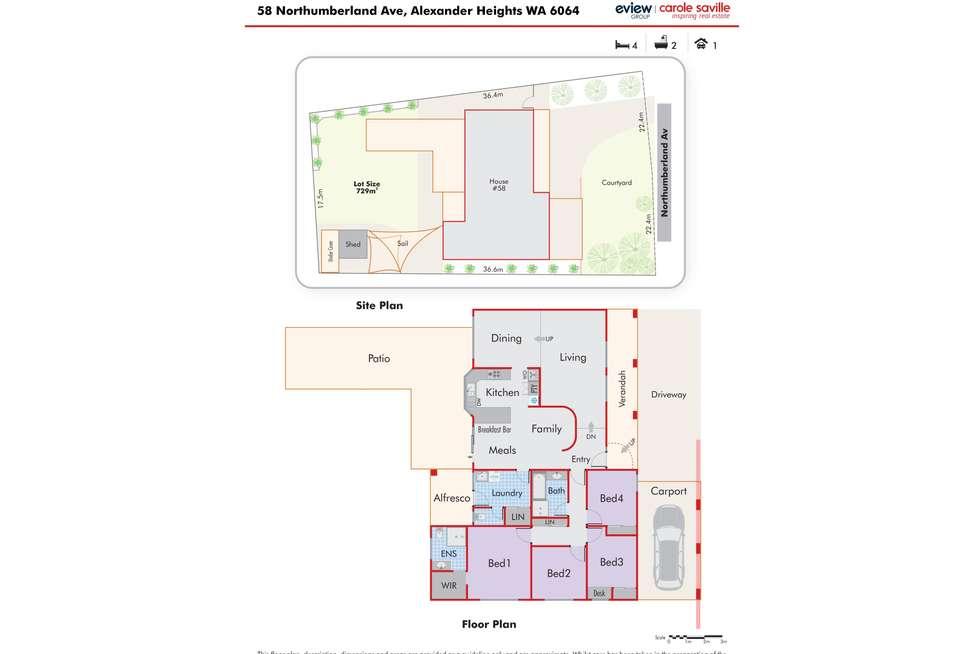 Floorplan of Homely house listing, 58 Northumberland Avenue, Alexander Heights WA 6064