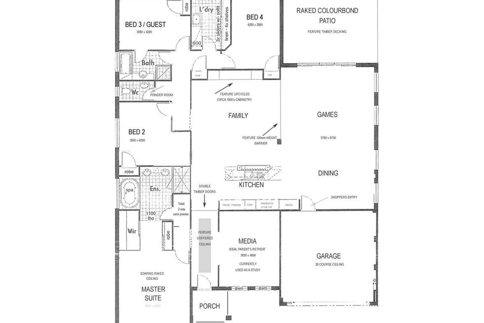 Floorplan of Homely house listing, 28 Rainsby Crescent, Ellenbrook WA 6069