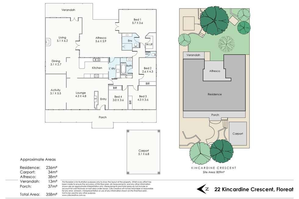Floorplan of Homely house listing, 22 Kincardine Crescent, Floreat WA 6014