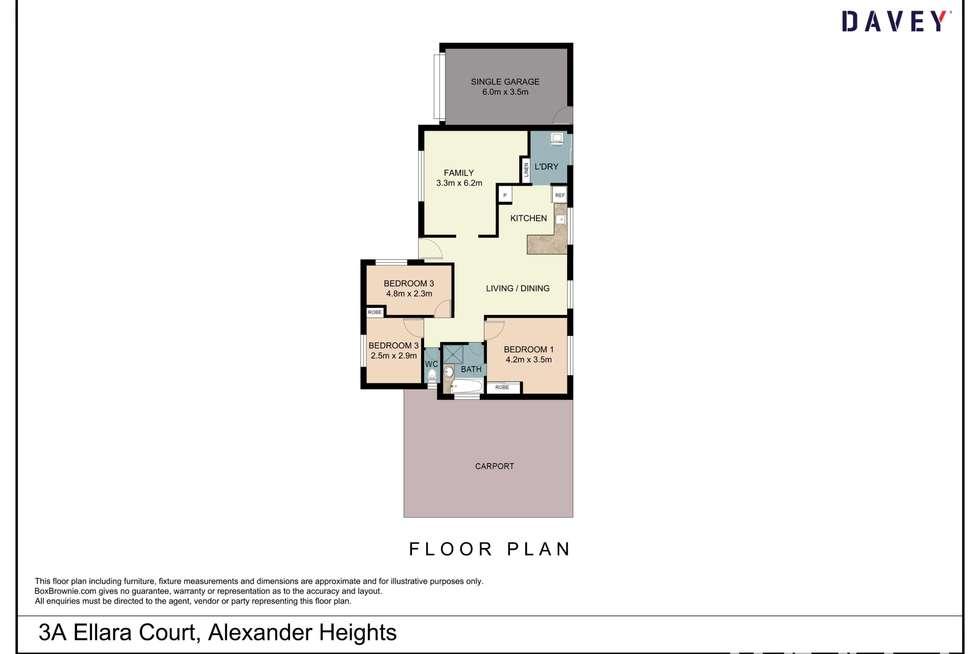 Floorplan of Homely house listing, 3A Ellara Court, Alexander Heights WA 6064