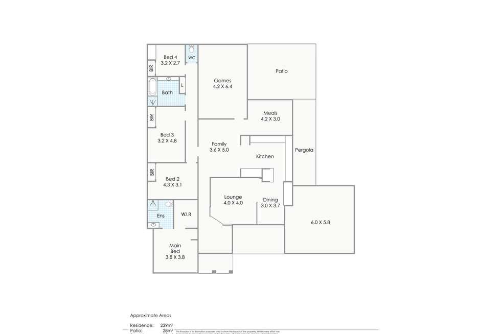 Floorplan of Homely house listing, 18 Celina Crescent, Kingsley WA 6026