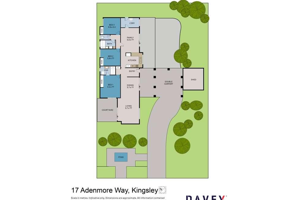 Floorplan of Homely house listing, 17 Adenmore Way, Kingsley WA 6026