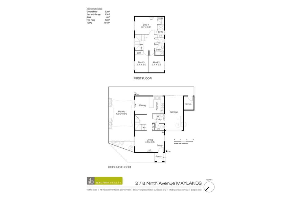 Floorplan of Homely townhouse listing, 2/6 Ninth Avenue, Maylands WA 6051