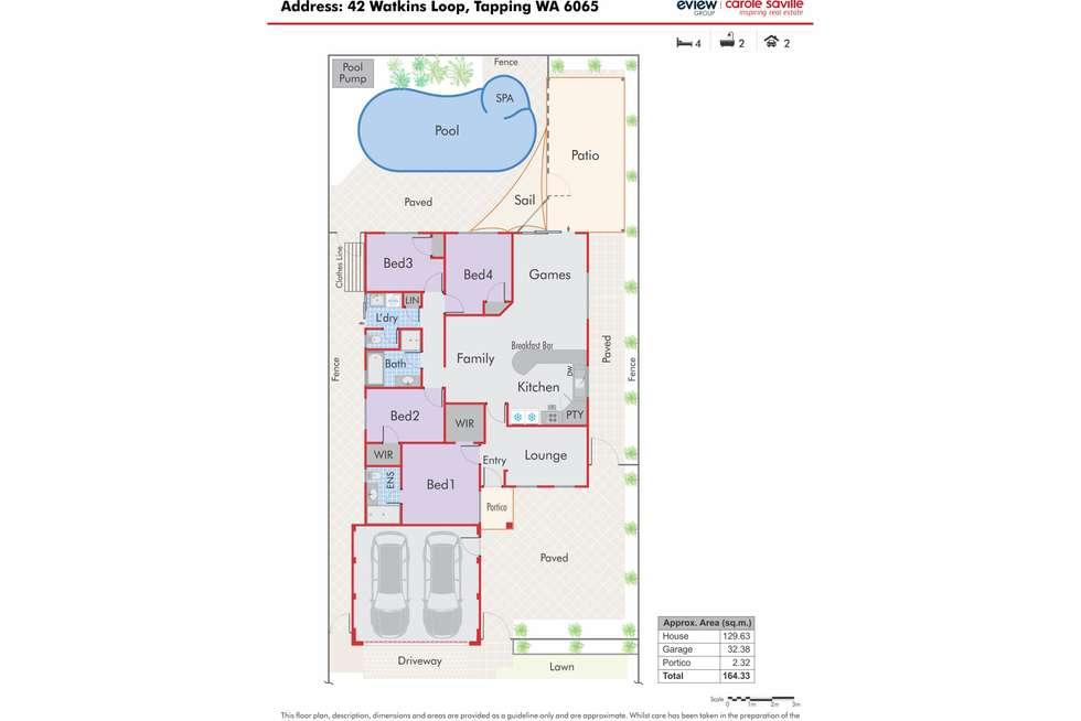 Floorplan of Homely house listing, 42 Watkins Loop, Tapping WA 6065