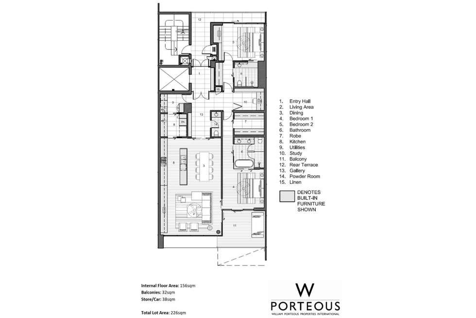 Floorplan of Homely apartment listing, 18/1 Freeman Loop, North Fremantle WA 6159
