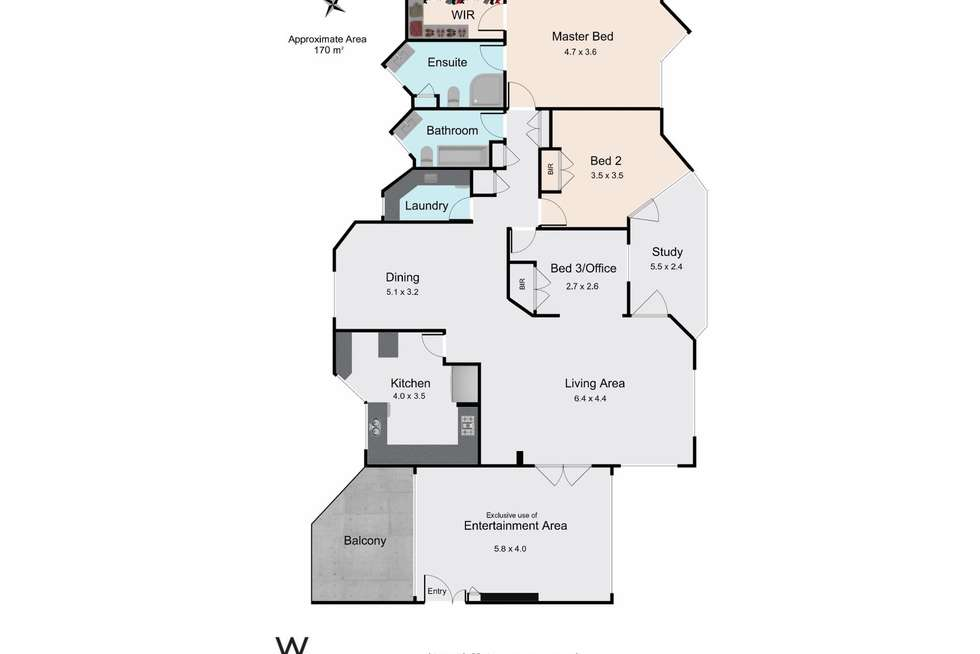 Floorplan of Homely apartment listing, 5/24 Cliff Street, West Perth WA 6005
