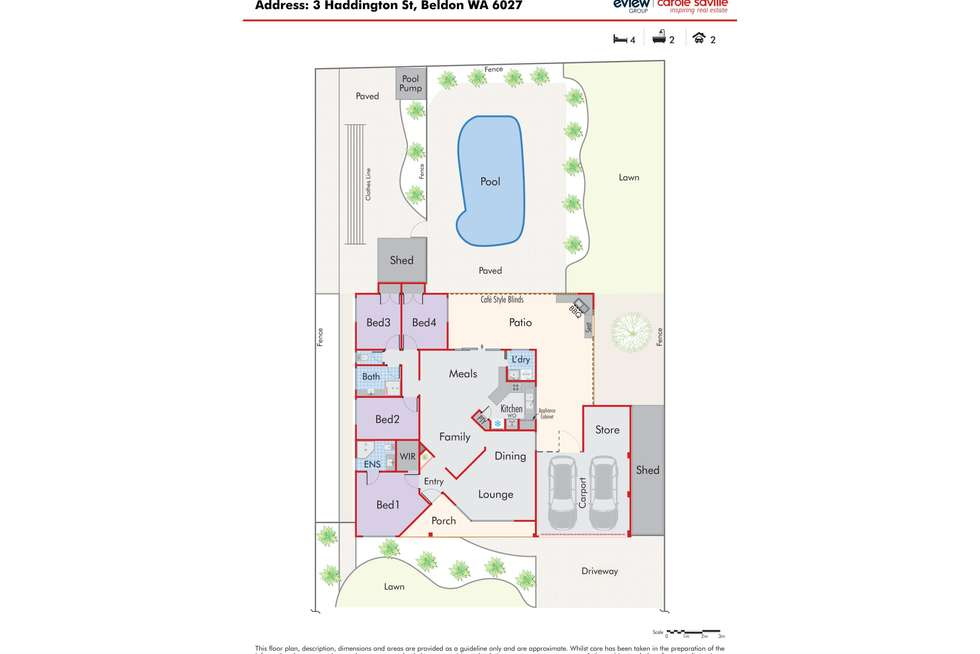 Floorplan of Homely house listing, 3 Haddington Street, Beldon WA 6027