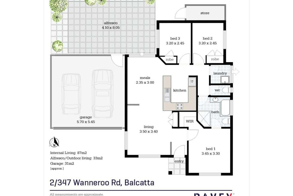 Floorplan of Homely villa listing, 2/347 Wanneroo Road, Balcatta WA 6021