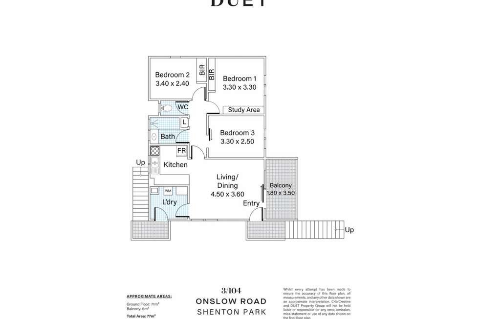 Floorplan of Homely apartment listing, 3/104 Onslow Road, Shenton Park WA 6008