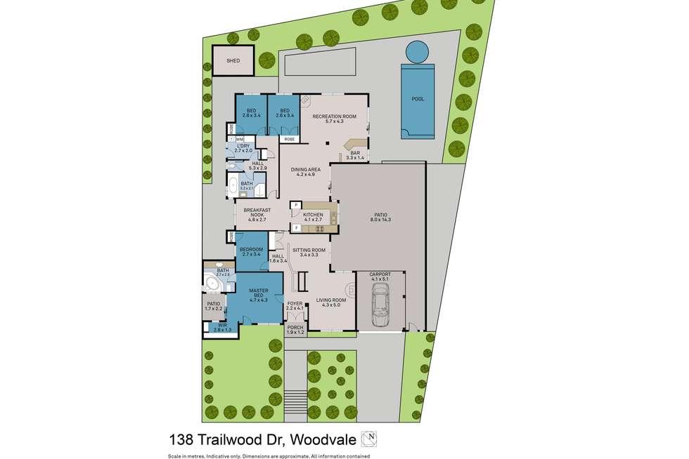 Floorplan of Homely house listing, 138 Trailwood Drive, Woodvale WA 6026