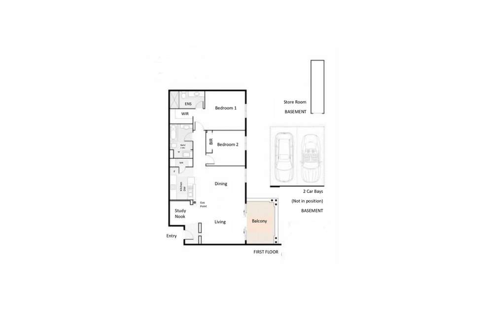 Floorplan of Homely apartment listing, 21/8 Bay Road, Claremont WA 6010