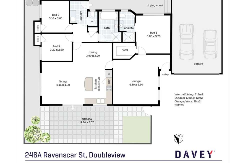 Floorplan of Homely house listing, 246A Ravenscar Street, Doubleview WA 6018