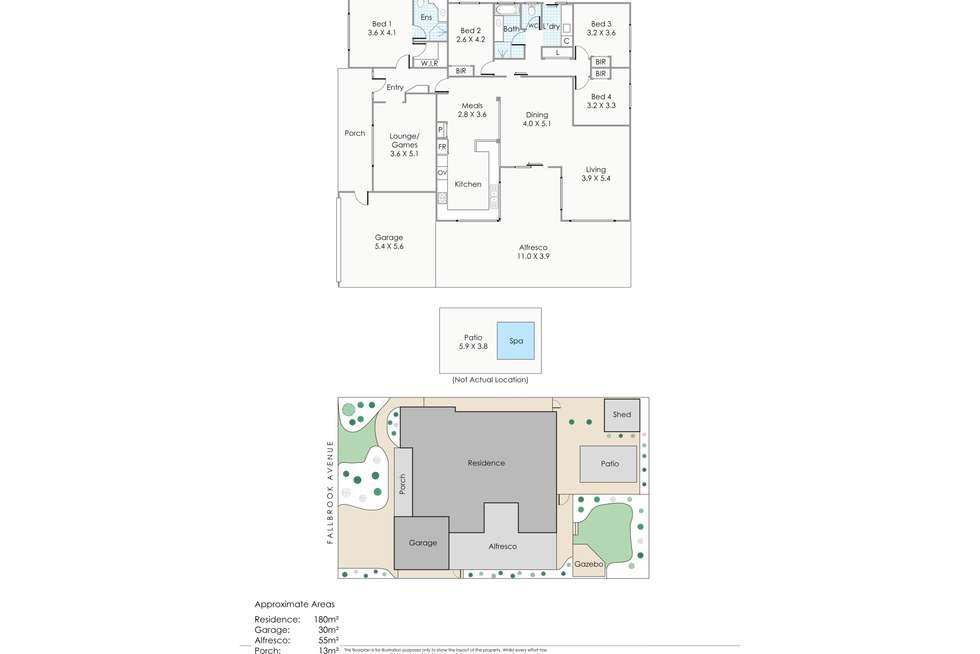 Floorplan of Homely house listing, 34 Fallbrook Avenue, Woodvale WA 6026