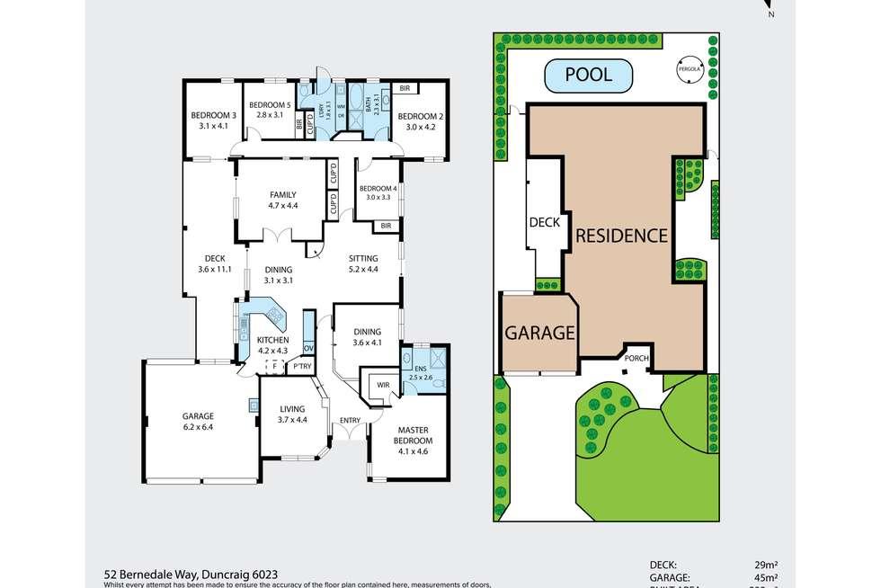 Floorplan of Homely house listing, 52 Bernedale Way, Duncraig WA 6023
