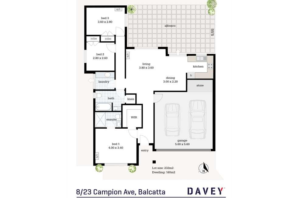 Floorplan of Homely villa listing, 8/23 Campion Avenue, Balcatta WA 6021