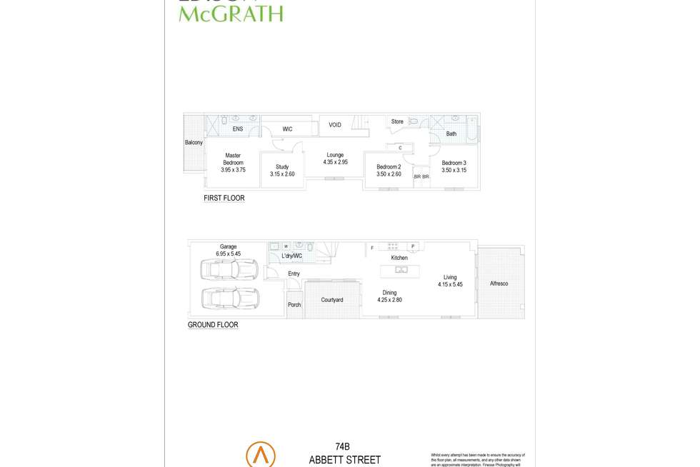 Floorplan of Homely townhouse listing, 74B Abbett Street, Scarborough WA 6019