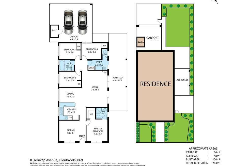 Floorplan of Homely house listing, 8 Derricap Avenue, Ellenbrook WA 6069