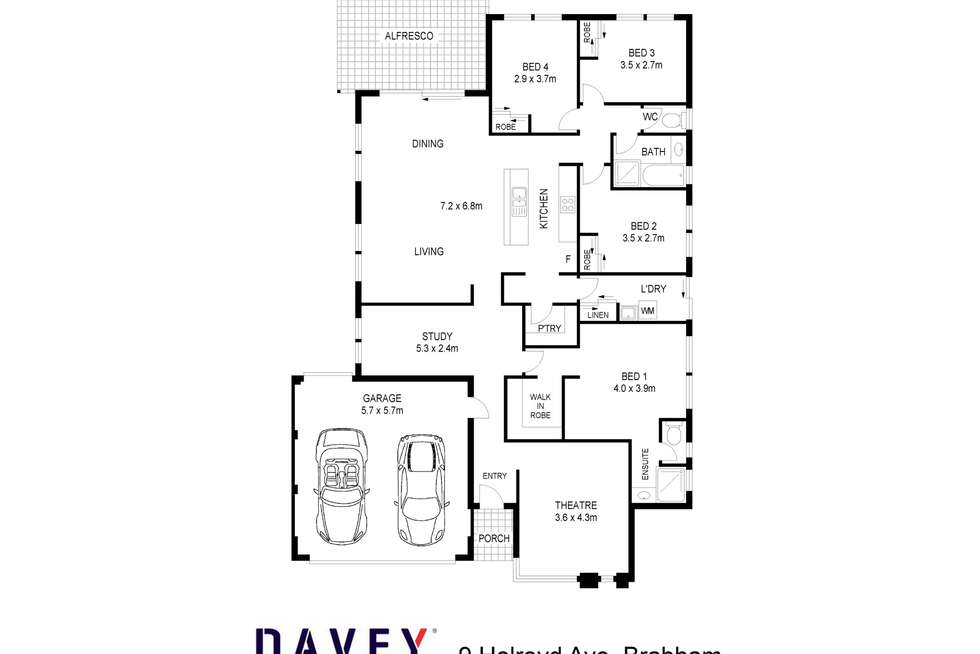 Floorplan of Homely house listing, 9 Holroyd Avenue, Brabham WA 6055