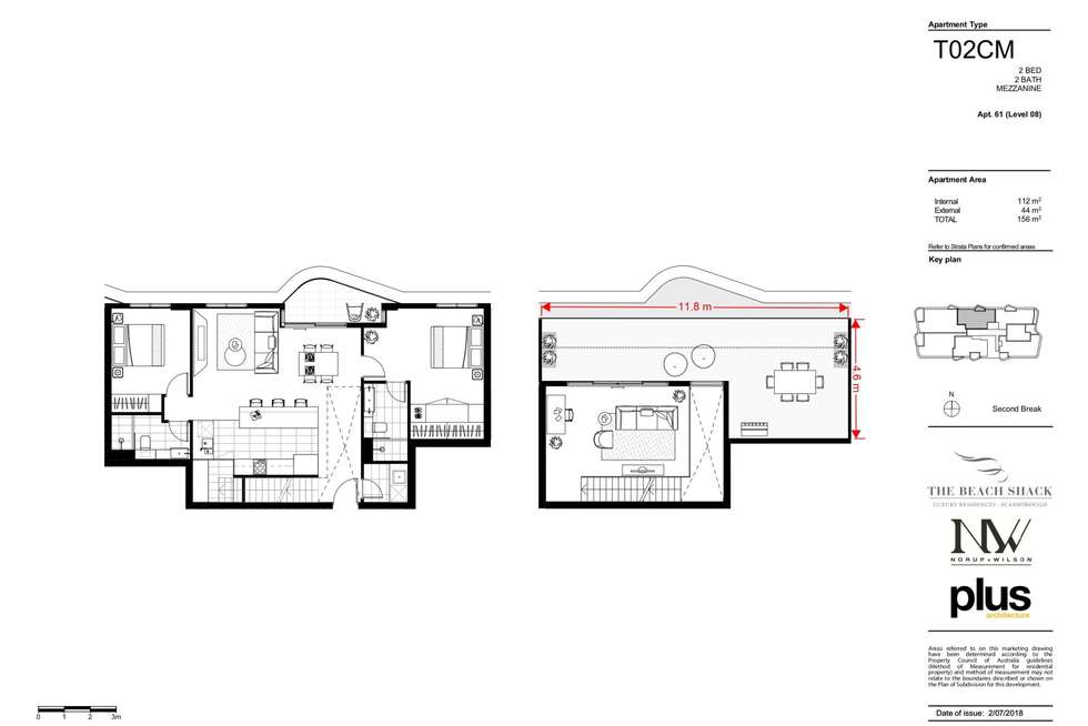 Floorplan of Homely apartment listing, 61/171 West Coast Highway, Scarborough WA 6019