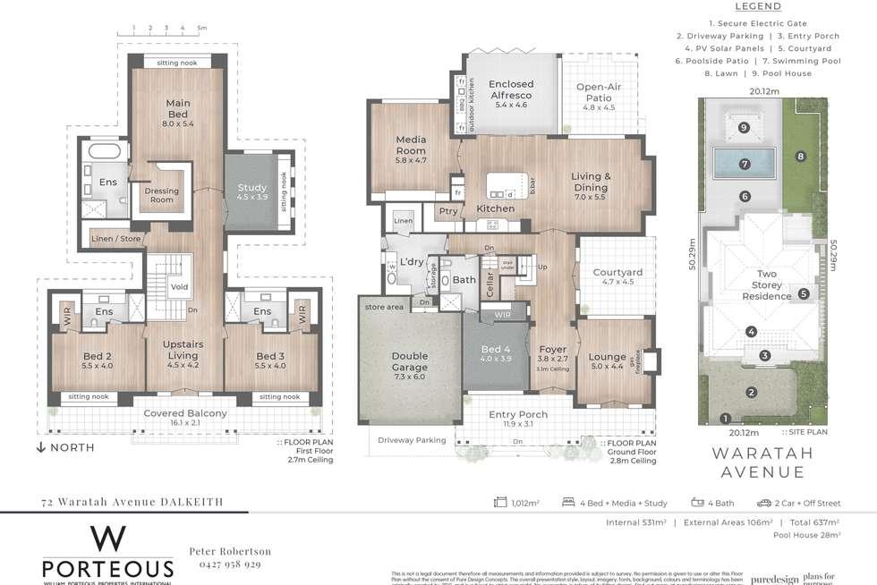 Floorplan of Homely house listing, 72 Waratah Avenue, Dalkeith WA 6009