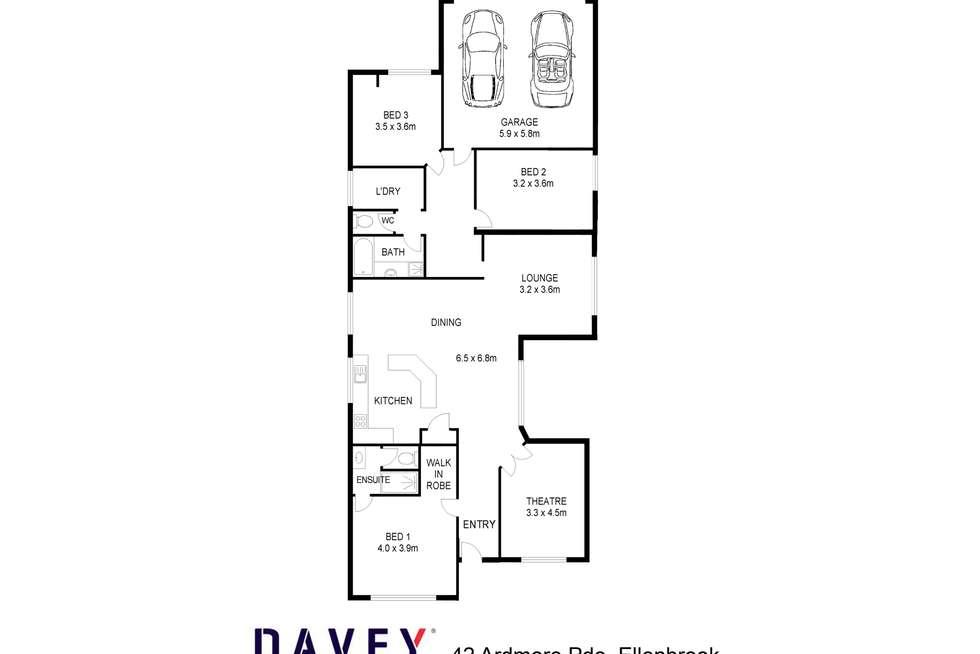 Floorplan of Homely house listing, 42 Ardmore Parade, Ellenbrook WA 6069