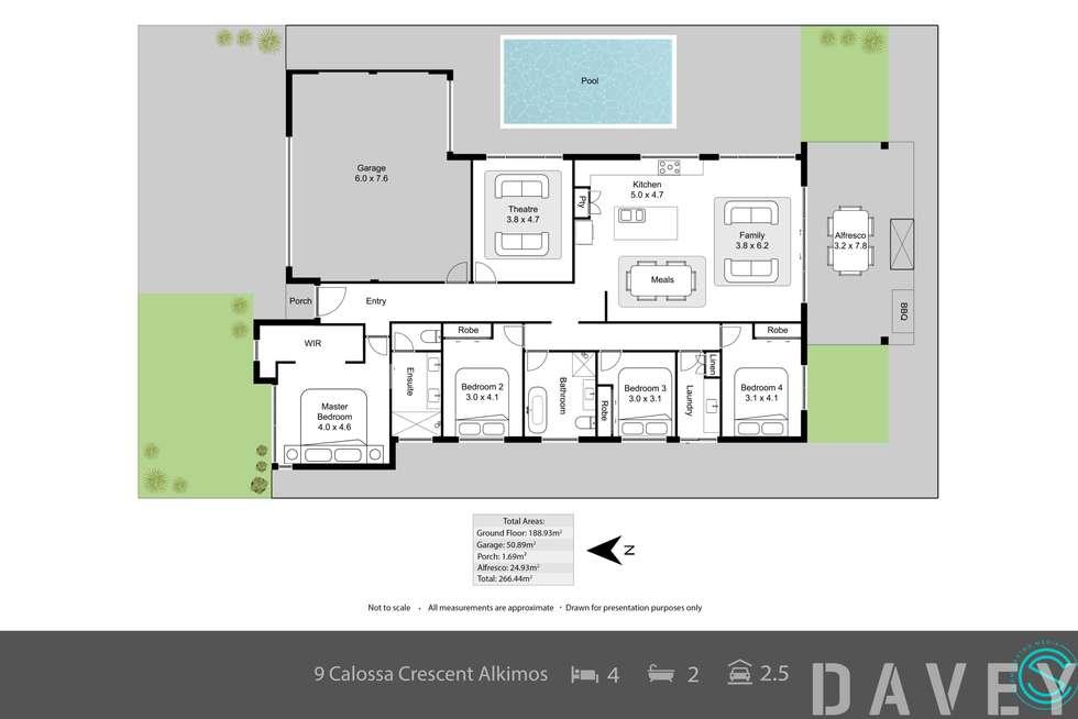 Floorplan of Homely house listing, 9 Callosa Crescent, Alkimos WA 6038