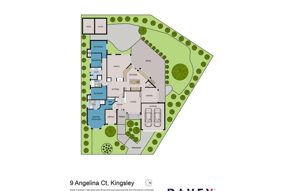 Floorplan of Homely house listing, 9 Angelina Court, Kingsley WA 6026