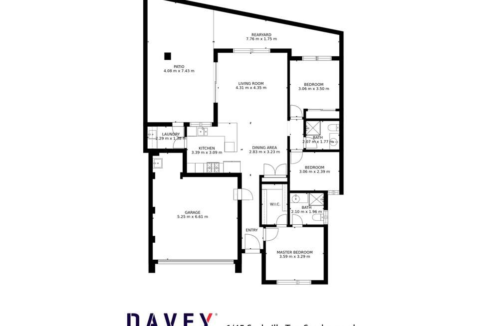 Floorplan of Homely villa listing, 6/45 Sackville Terrace, Scarborough WA 6019
