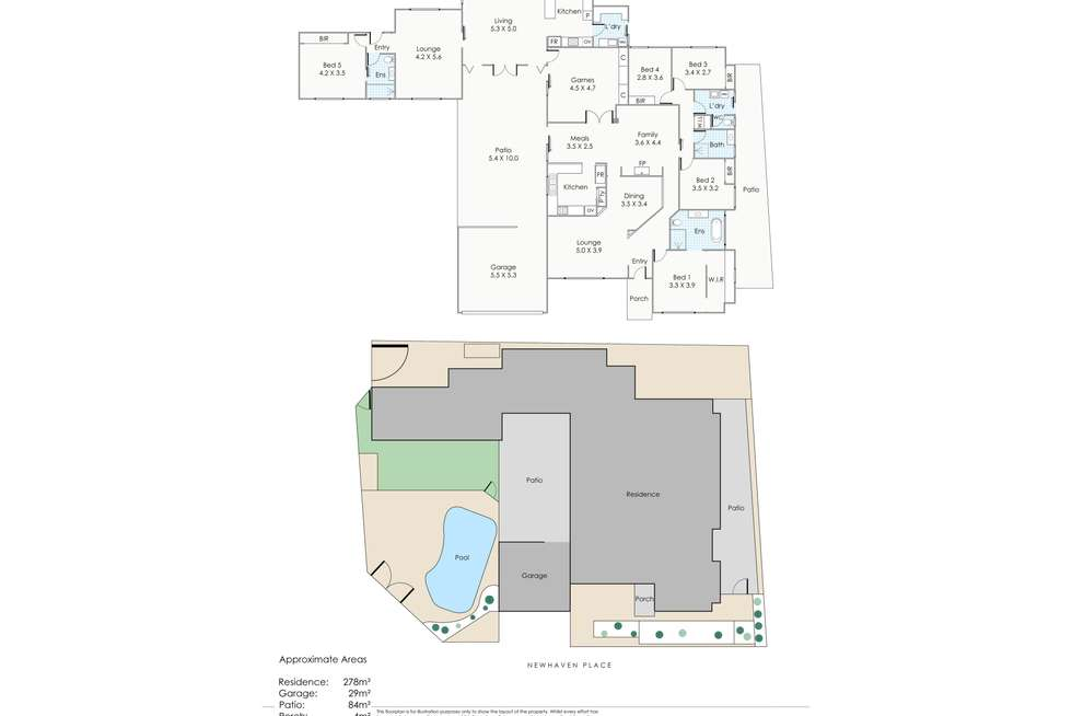 Floorplan of Homely house listing, 17 Newhaven Place, Kingsley WA 6026