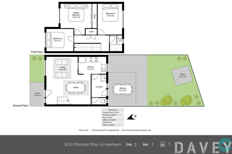 Floorplan of Homely townhouse listing, 8/22 Manolas Way, Girrawheen WA 6064