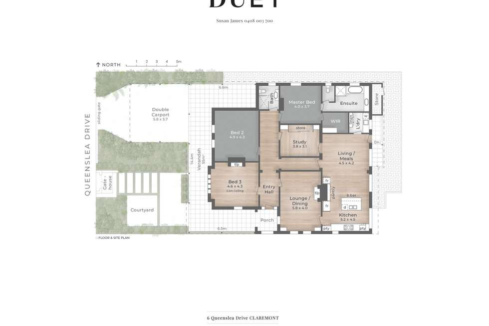 Floorplan of Homely house listing, 6 Queenslea Drive, Claremont WA 6010