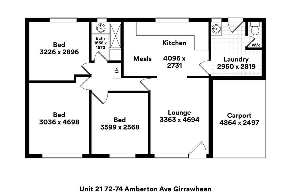 Floorplan of Homely house listing, 21/74 Amberton Avenue, Girrawheen WA 6064