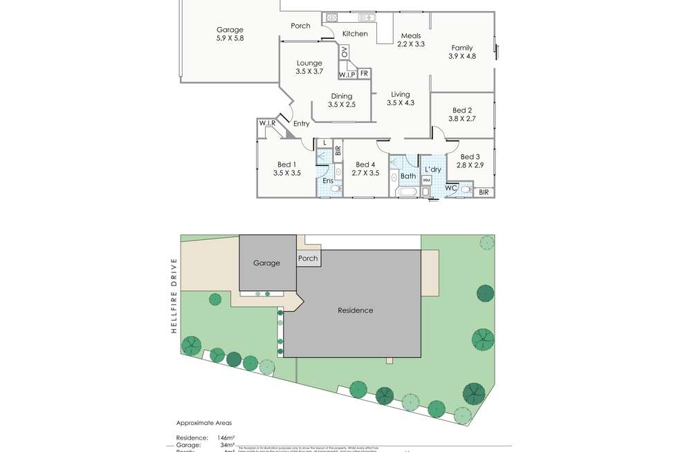 Floorplan of Homely house listing, 90 Hellfire Drive, Darch WA 6065