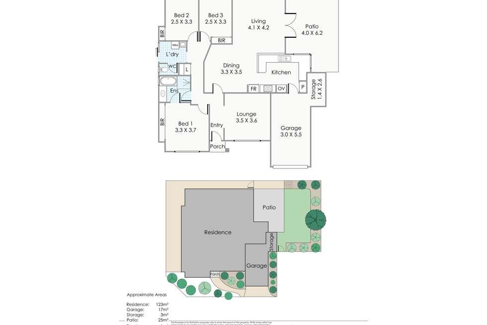 Floorplan of Homely villa listing, 3/3 Waxham Place, North Beach WA 6020