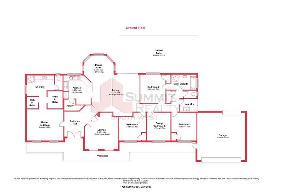 Floorplan of Homely house listing, 1 Gilmore Street, Dalyellup WA 6230